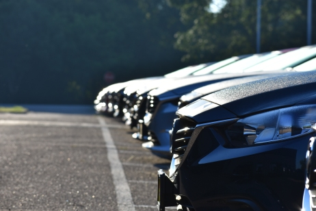 A line of brand new Mazda6's at my day job.
