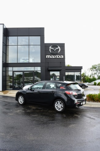 My 2012 Mazda3 in front of the new entrance.